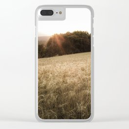 Beautiful corn landscape during the golden hour in Catalunya! Clear iPhone Case