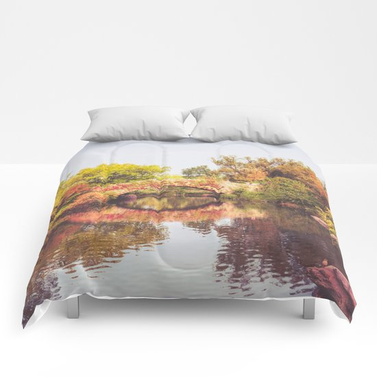 New York City Autumn Bridge Comforters