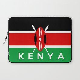 Kenya country flag name text Laptop Sleeve