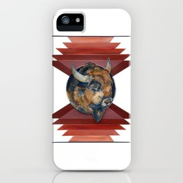 Buffalo Watercolor Art Print iPhone Case