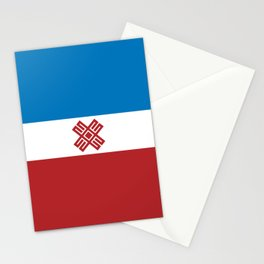 mari el flag Stationery Cards