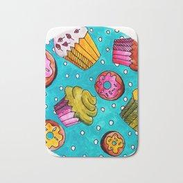 Muffins and doughnuts Bath Mat