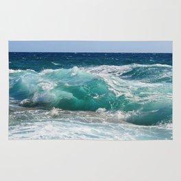 Wave Crashing On The Shore Rug