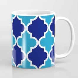 Quatrefoil - blue dual tone Coffee Mug