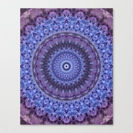 Mandala in violet and blue tones Canvas Print