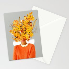 I Saw You Flower in the reflection of my Soul Stationery Cards