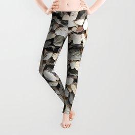 Seaside Beach Pebbles Pattern Leggings