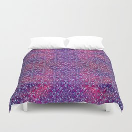 Turkish blue arabesques Duvet Cover