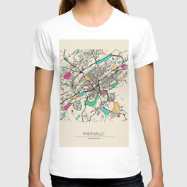 Colorful City Maps: Knoxville, Tennessee T-shirt