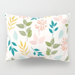 tree leafs 88 - multi-colors Pillow Sham