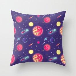 fantasy galaxy Throw Pillow