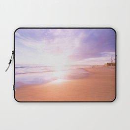 Sunset Beach Scene , Summertime, Pastel Sky Laptop Sleeve