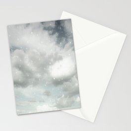 Snowing Winter Scene Illustration #decor #society6 Stationery Cards