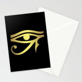 Eye of horus Egyptian symbol Stationery Cards