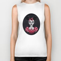 minnie Biker Tanks featuring Minnie M. by M. Adeline Nef