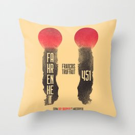 Fahrenheit 451, François Truffaut, french movie, british film, Ray Bradbury,  dystopian novel, book Throw Pillow