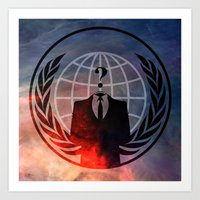 anonymous Art Prints featuring Anonymous by Sney1