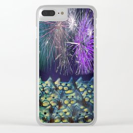 fireworks display cats 213 Clear iPhone Case