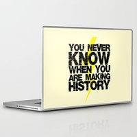 history Laptop & iPad Skins featuring HISTORY by Silvio Ledbetter