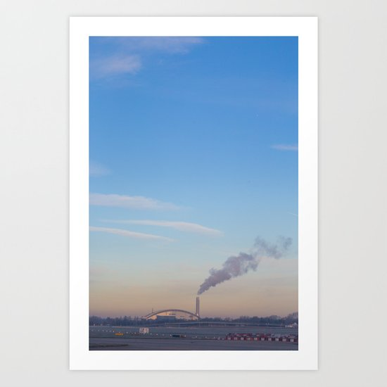 Smoking Society Art Print