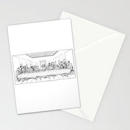 Last Supper Outline Sketch Stationery Cards