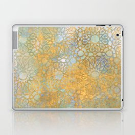 gold arabesque vintage geometric pattern Laptop & iPad Skin