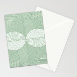 Minimal Tropical Leaves Pastel Green Stationery Cards