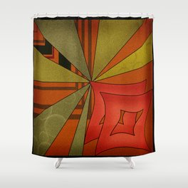 Abstraction. Sunset. Shower Curtain