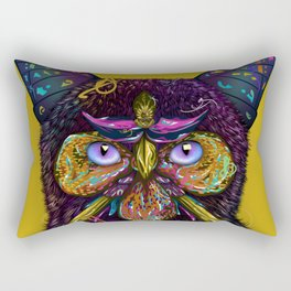 CAT-BUTTERFLY-BIRD-FLOWERS Rectangular Pillow