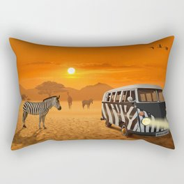 Africa Safari and stripes meeting Rectangular Pillow