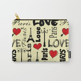 Paris text design illustration Carry-All Pouch