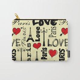 Paris text design illustration Carry-All Pouch