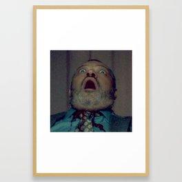 Scared Face Laurence Fishburn Framed Art Print