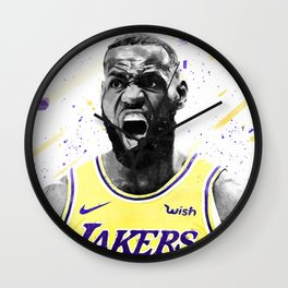 Lebron Basketball Print Basketball Wall Art Basketball Poster Basketball Wall Decor Poster Wall Clock
