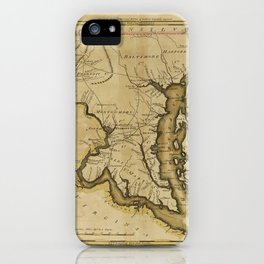 Map of the State of Maryland (1795) iPhone Case