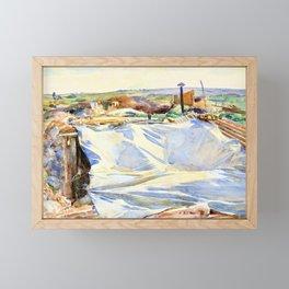John Singer Sargent - A Tarpaulin over a Dug-out, Ransart - Digital Remastered Edition Framed Mini Art Print