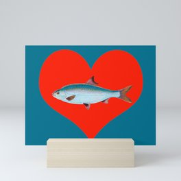 Fish of my heart Mini Art Print