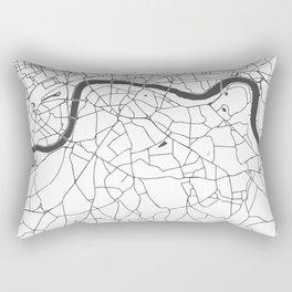 London White on Gray Street Map Rectangular Pillow