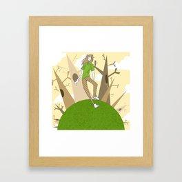 Earthy Stroll Framed Art Print