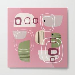 Pink Mid Century Modern Metal Print