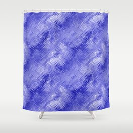 Blue Crystal Gel Glassy Abstract Pattern Shower Curtain