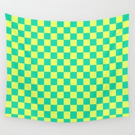 Checkered Pattern V Wall Tapestry