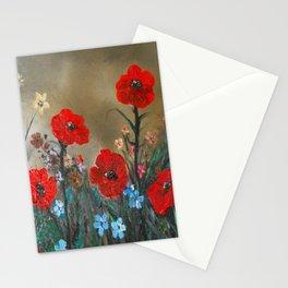 Impasto Red Poppy Love Garden Stationery Cards
