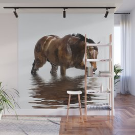 Horse and reflections Wall Mural