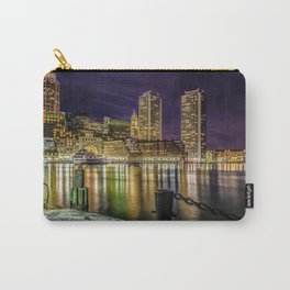 Boston Harbor with Christmas lights. Carry-All Pouch