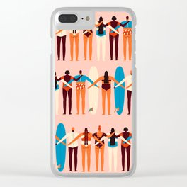 Surf sisters Clear iPhone Case