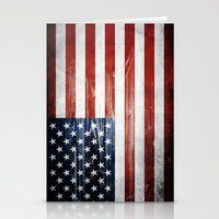 american flag Stationery Cards featuring American flag by Nicklas Gustafsson