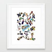 cartoons Framed Art Prints featuring 2013 Cartoons 1 by Reid