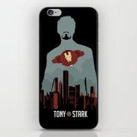 tony stark iPhone & iPod Skins featuring Tony Stark by offbeatzombie