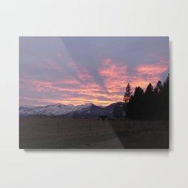 #406 sunset coming to calif sunday 1 26 14 Metal Print